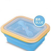 Portable collapsible silicone lunch box manufacturer