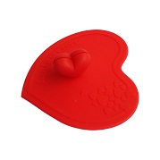 silicone cup lid covers in heart shape