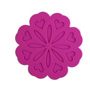 round purple table placemats silicone
