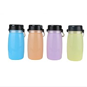 Solar silicone sports water bottle with LED light
