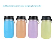 solar outdoor water bottle with LED light