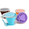 silicone travel water drink cup