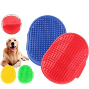 silicone pet bathing massage brush