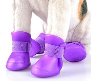 soft silicone dog rain shoes